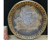 Тарелка Карта Беларуси 2К12